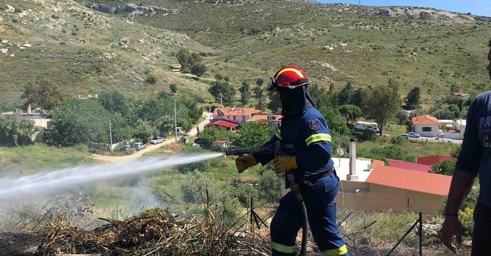 Η πρώτη πυρκαγιά στον Υμηττό για την καινούργια αντιπυρική περίοδο