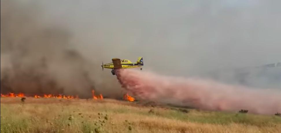 Κύπρος - Βίντεο απο βολές πυροσβεστικών αεροσκαφών Airtractor