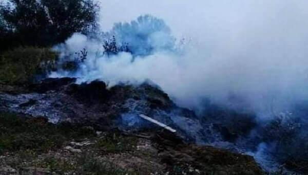 Πυρκαγιά σε χωματερή στην Αμμουδιά Σερρών