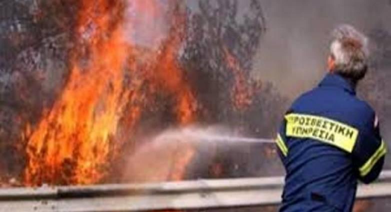 Πυρκαγιά στον καταυλισμό Ρομά στα Σαγέικα Αχαίας