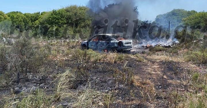 Πυρκαγιά σε αυτοκίνητο στο Καμπάνι Ακρωτηρίου