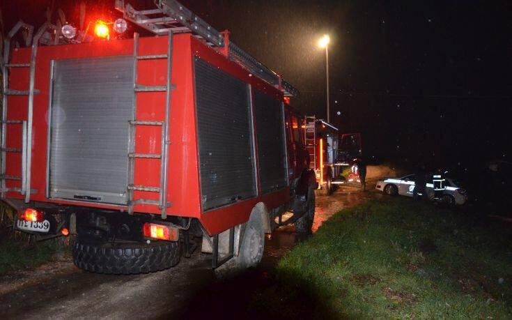 Πυρκαγιά σε αποθήκη στην Εξοχή Θεσσαλονίκης