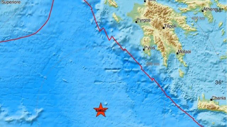 Σεισμός 5,9 Ρίχτερ νοτιοδυτικά της Πύλου