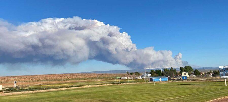 Mangum Fire seen from Fredonia High School June 12 2020 InciWeb photo 900x406 1