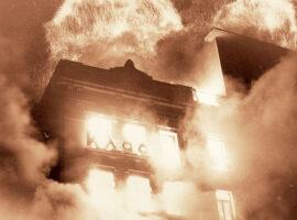 Η πυρκαγιά στο κέντρο της Αθήνας που τύλιξε στις φλόγες «Μινιόν» και «Κατράντζος»