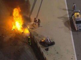 Σοκαριστικό ατύχημα στη Formula 1: Ο Γκροζάν επιβίωσε μετά από 32″ μέσα στη φωτιά (video)