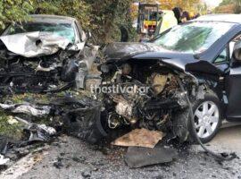 Θεσσαλονίκη: Ένας νεκρός και ένας σοβαρά τραυματίας στο τροχαίο στα Πεύκα (φωτο)