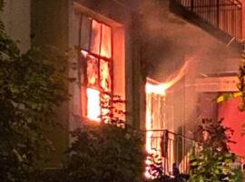 Πυρκαγιά  σε εγκαταλελειμμένο σπίτι στα Κάτω Λεχώνια