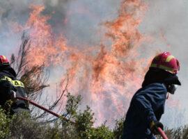 Πυρκαγιά εν υπαίθρω στο Ζεφύρι Αττικής