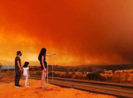 Μεγάλη πυρκαγιά καίει δασική έκταση στη Χιλή (Φώτο)