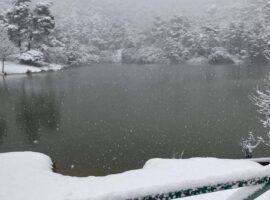 Έντονη χιονόπτωση στην Ιπποκράτειο Πολιτεία