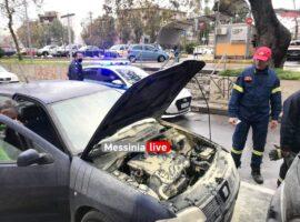 Πυρκαγιά σε αυτοκίνητο στην Καλαμάτα – Επέμβαση της Π.Υ