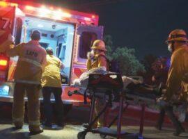 Συγκλονιστικό τροχαίο στο Λος Άντζελες – Mercedes έπεσε από γέφυρα και άρπαξε αμέσως φωτιά (βίντεο)