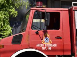 Πυρκαγιά στο παλαιό εργοστάσιο της «Αγνό» στηδυτική Θεσσαλονίκη