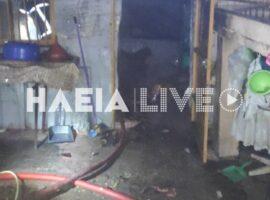 Χειμαδιό: Συναγερμός της Πυροσβεστικής για πυρκαγιά σε αποθήκη δίπλα σε σπίτι.(φώτο)