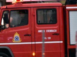 Πυρκαγιά σε συνεργείο στη δυτική Θεσσαλονίκη