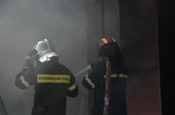 πυρκαγιά αποθήκη λιπασμάτων Τανάγρα πυροσβεστική 741x486 1