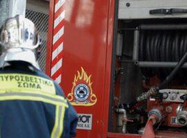 Κινητοποίηση της Πυροσβεστικής για πυρκαγιά στο κέντρο του Ηρακλείου