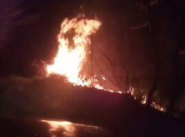 Πυρκαγιά σε ορεινή περιοχή της Αλμωπίας (βίντεο)