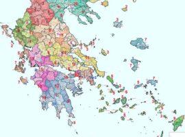 Κατανομή των Ανθ/γων ανά την Επικράτεια  για το 2021.