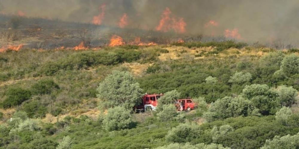 Ζακυνθος-Πυρκαγιά σε δασική έκταση στο Κερί