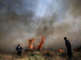 Πυρκαγιά σε δασική έκταση στο Φλάμπουρο Κορινθίας
