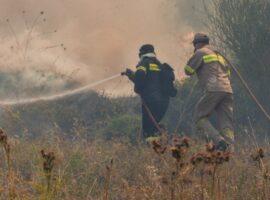Πυρκαγιά δασική στην περιοχή του Αγίου Γορδίου Κέρκυρας