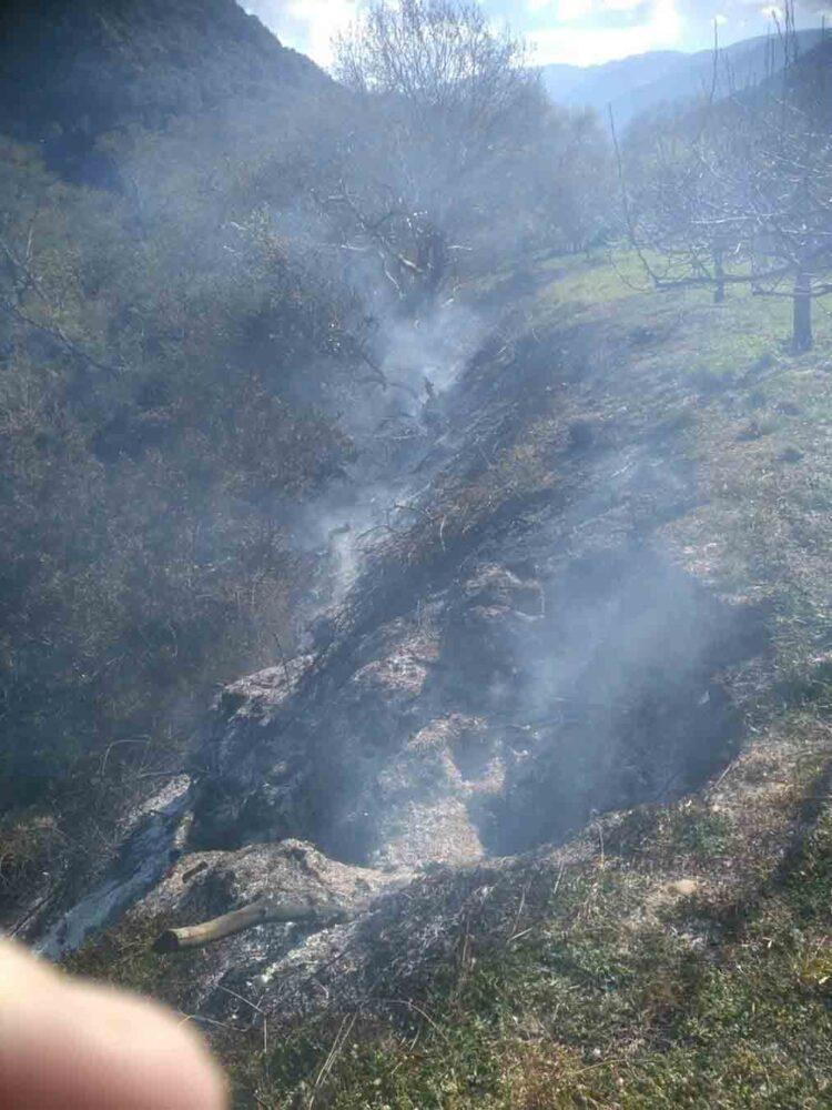 Κινητοποίηση της Πυροσβεστικής για πυρκαγιά σε χαράδρα στον Δρυμό Βόνιτσας