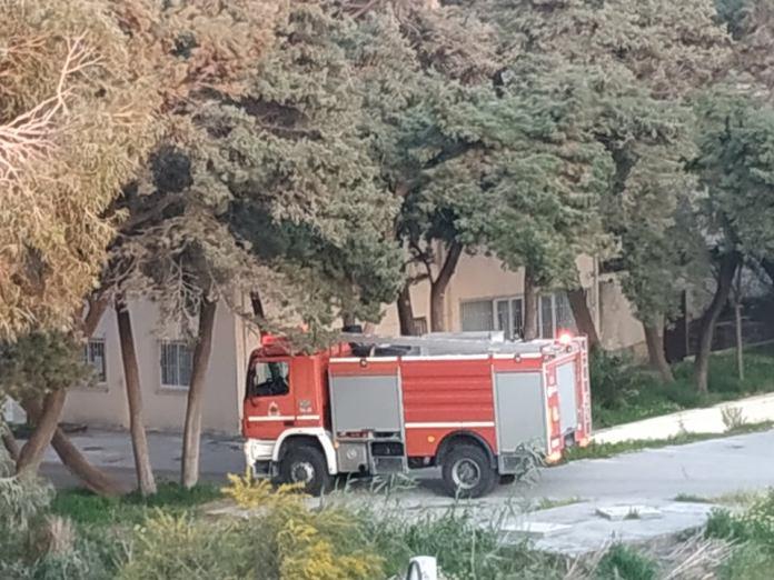 Πυρκαγιά στο παλιό νοσοκομείο της Ρόδου
