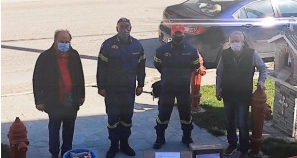 Δωρεά μασκών και αντισηπτικών στην Πυροσβεστική Υπηρεσία Πτολεμαΐδας.