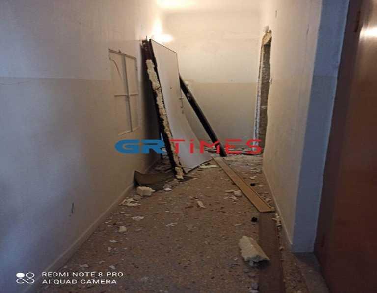 Έκρηξη από γκαζάκι ισοπέδωσε το διαμέρισμα φοιτητή στην Θεσσαλονίκη.