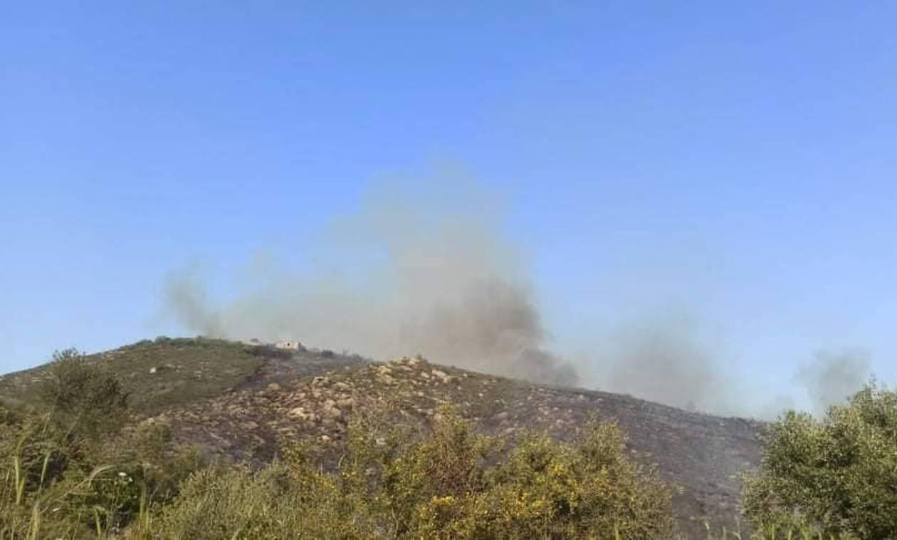 Πυρκαγιά σε αγροτοδασική έκταση στην Μάνη
