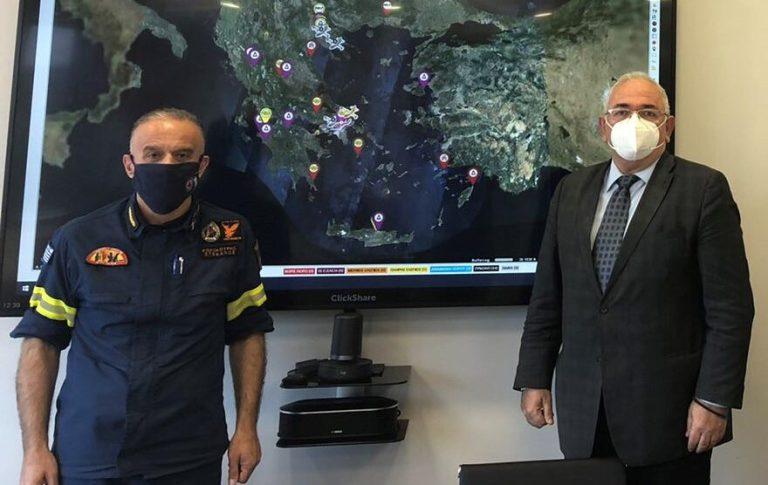 Στον Αρχηγό της Πυροσβεστικής ο Βουλευτής Σάββας Χιονίδης.