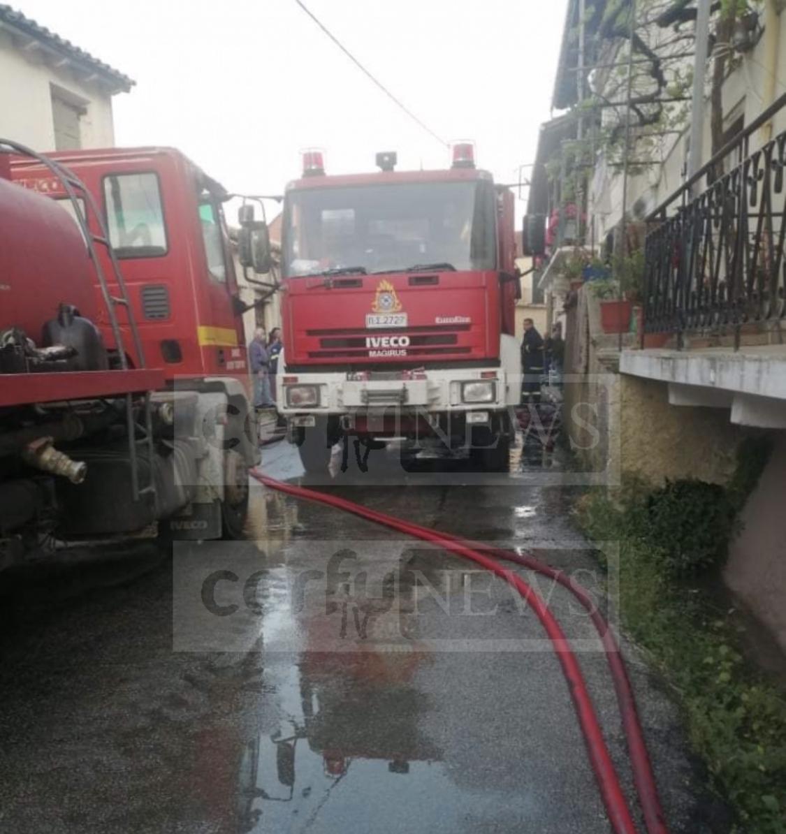 Κέρκυρα: Στο Νοσοκομείο προληπτικά πυροσβέστης που επιχείρησε στην πυρκαγιά στον Αγρό.