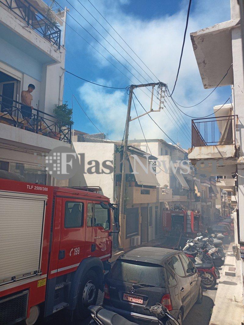Πυρκαγιά σε οικία στον Πόρο Ηρακλείου (Φώτο)