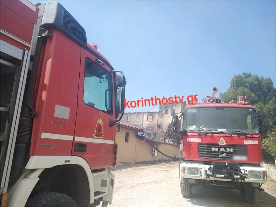 Πυρκαγιά στα Μέγαρα: Κάηκε ολοσχερώς οινοποιείο