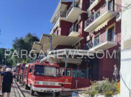 Πυρκαγιά σε ξενοδοχείο στην Πάργα