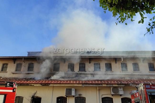 Συναγερμός στα Χανιά: Μεγάλη πυρκαγιά μέσα στη Δημοτική Αγορά - Σοβαρές ζημιές