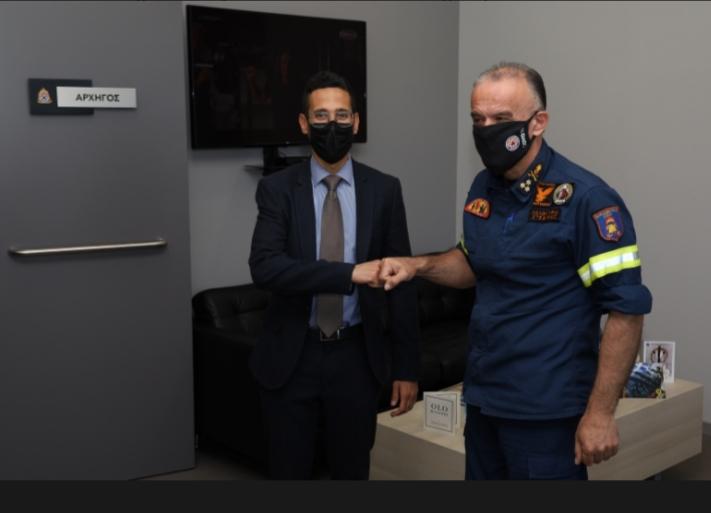Εθιμοτυπική επίσκεψη στον Αρχηγό του Πυροσβεστικού Σώματος Αντιστράτηγο Στέφανο Κολοκούρη