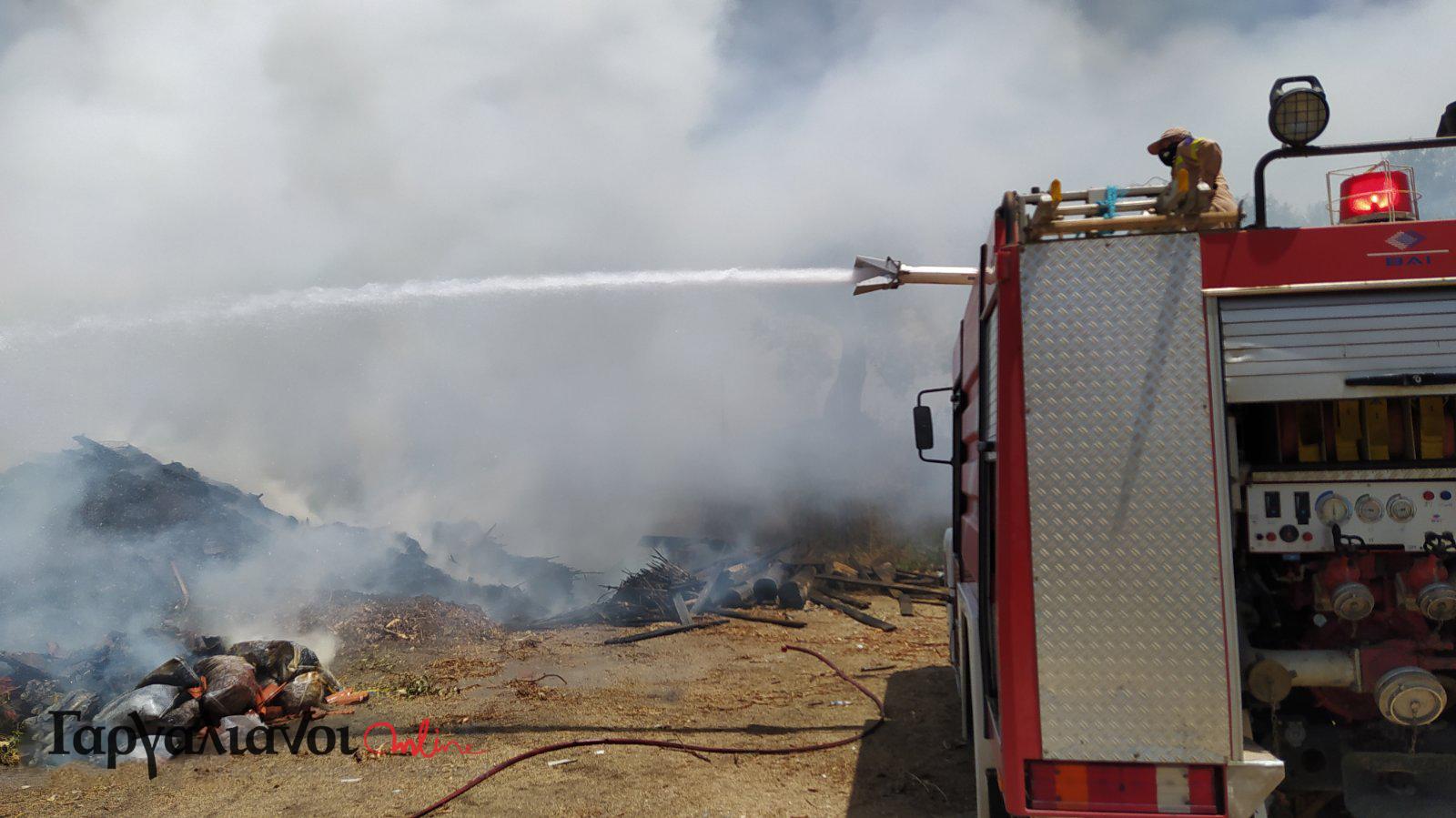 Κινητοποίηση της Πυροσβεστικής για πυρκαγιά στη Χώρα Πύλου