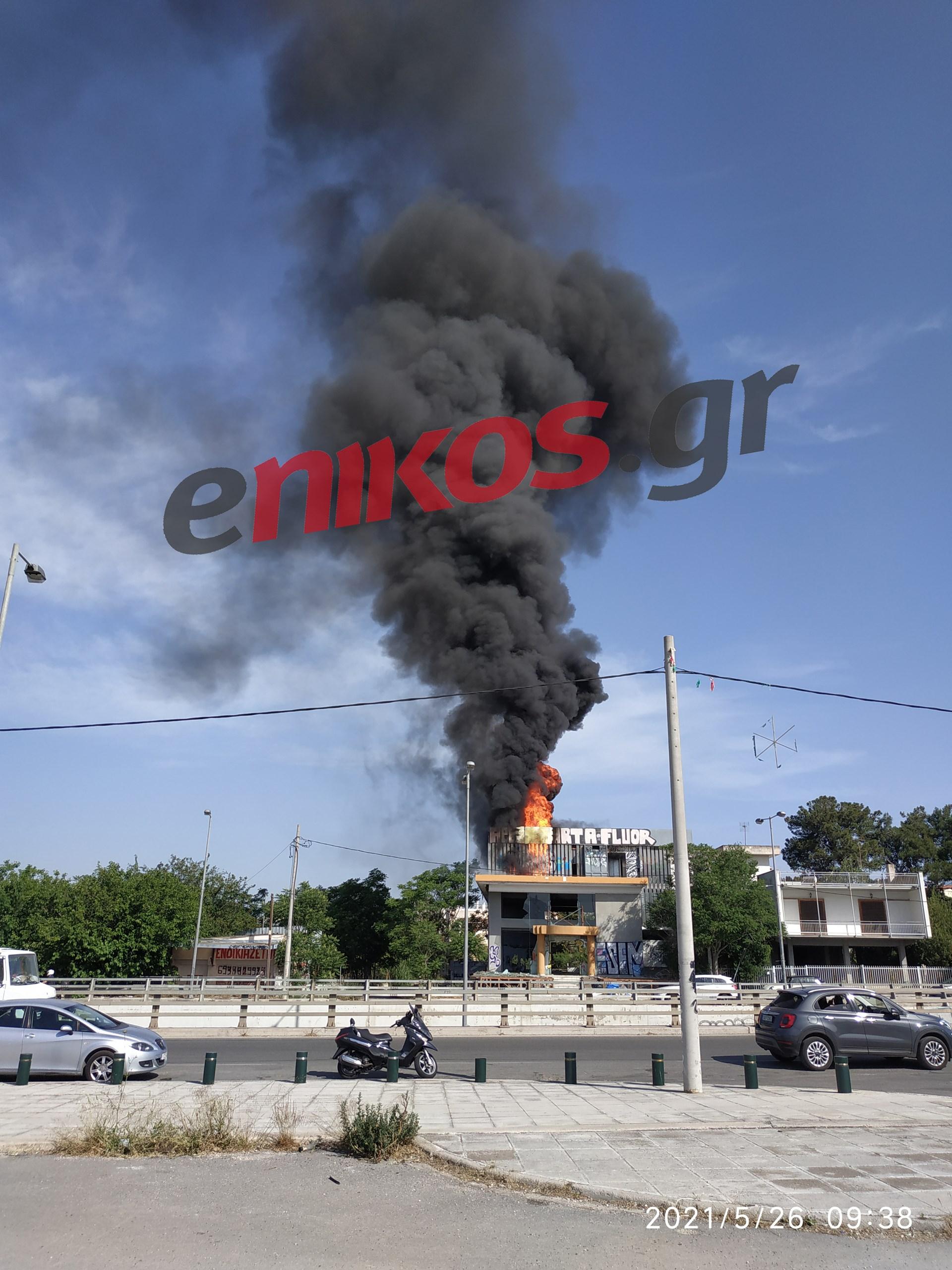 Πυρκαγιά σε εγκαταλελειμμένο κτίριο στο Μαρούσι