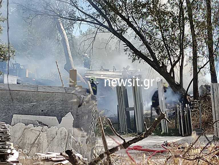 Πυρκαγιά εν υπαίθρω στο Μαρούσι
