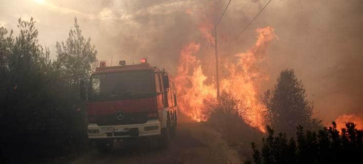 Πυρκαγιά ΤΩΡΑ σε χορτολιβαδική έκταση στην Κρήτη
