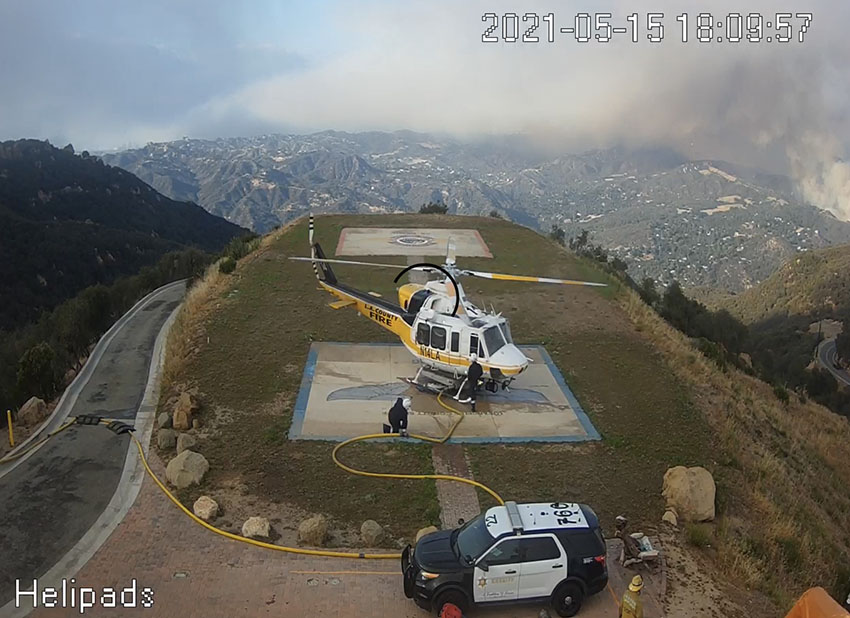 LA County H 14 refilling at 69Bravo during the Palisades Fire 5 15 2021