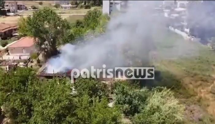 Ηλεία: Καταστράφηκε ολοσχερώς από φωτιά το σπίτι ηλικιωμένου
