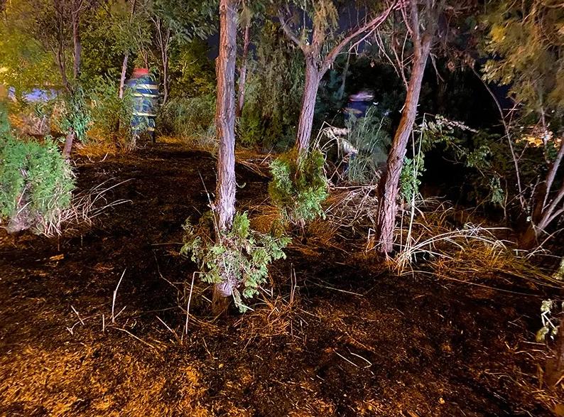 Πυρκαγιά σε ξερά χόρτα στην Καβάλα (Φώτο)