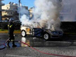 Πυρκαγιά σε Ε.Ι.Χ. όχημα στην Σιθωνία