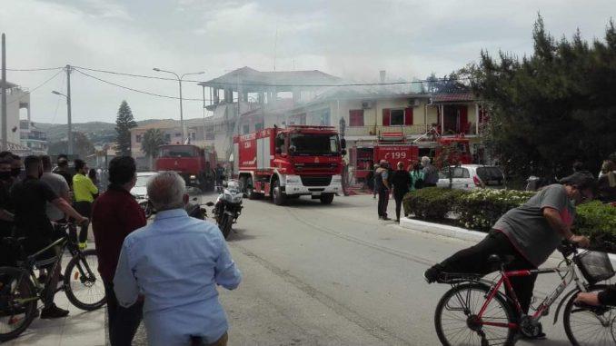 Πυρκαγιά σε σπίτι στην πόλη της Λευκάδας (Φώτο)