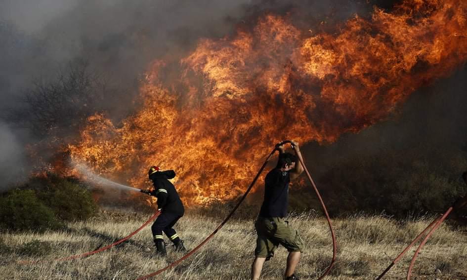 Κέρκυρα: Πυρκαγιά σε δασική έκταση στις Σινιές.
