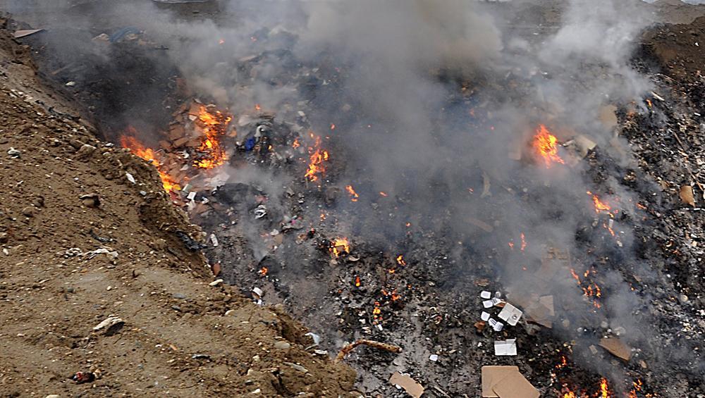 Πυρκαγιά ΤΩΡΑ σε χώρο Απορριμάτων (Χ.Υ.Τ.Α.) στην Εύβοια